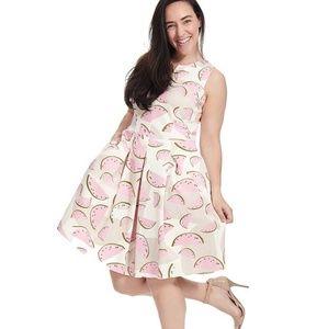 Corey Tessa Dress in Watermelon Print-20